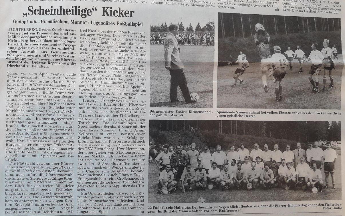 TSV Fichtelberg - Sportplatzeinweihung 1997